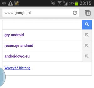 Historia wyszukiwań w Chrome